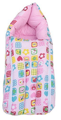 promo code 6be2d 24d5d Baby Sleeping Bag Cum Baby Carry Bag Collage (pink)