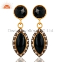 CZ Black Onyx Gemstone Earrings Jewelry