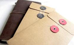 Button Kraft Pocket Ring Pocket Envelope