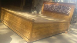 MBK Wooden Bed, Size: King Size
