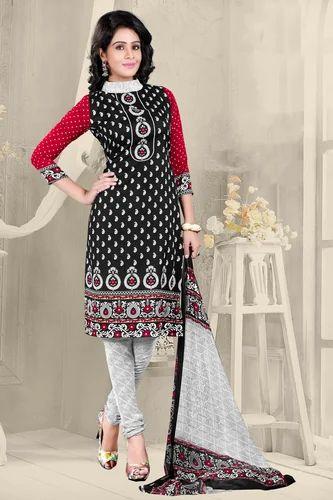 9bd95310b9 Elegant Black Printed Dress Material at Rs 170 /piece | Ladies Dress ...