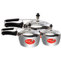 Silver Aluminum Pressure Cooker, For Home