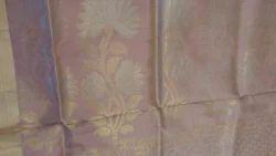 Real Zari Gold Natural Silk Sarees, With Blouse Piece