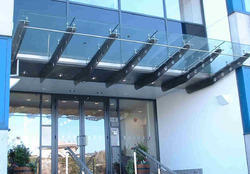 Outdoor Stainless Steel Glass Canopy