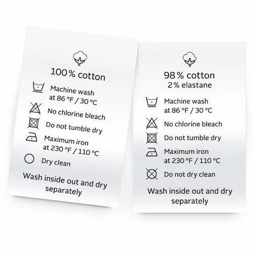 Wash Care Label Garment Wash Care Label Service Provider