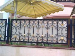 Floral Mild Steel Balcony Grill, for Home