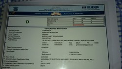Registration Certificate From MSME