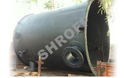 SHROFF Black MS Rubber Lined Vessel