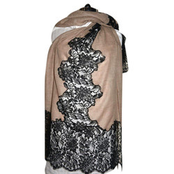 Merino Super Wool With French Lace Scarves