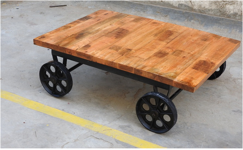 Wood Coffee Table With Wheel Dimension