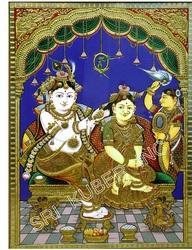 Chadai Krishna Tanjore Paintings