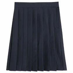 Navy Blue Plain Girls School Skirt