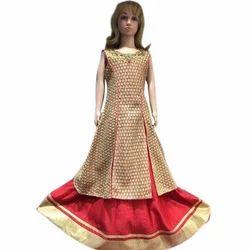 heavy embrodery cloth Party Wear Kids Designer Long Choli Lehenga