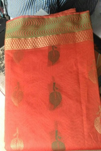 Border Casual Wear Silk Cotton Sarees, Without Blouse Piece