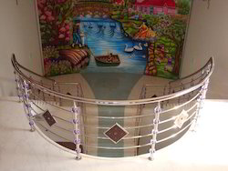 Stainless Steel Acrylic Staircase Handrail
