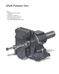 Cast Iron Multi Purpose Vice, Base Type: Swivel, Size: 4, 6