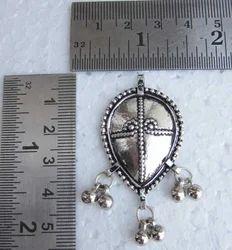 Leaf Shape Silver Plated Brass Pendants