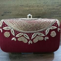 05a6339e621 Golden Gota Hand Embroidered Clutch For Women - Spice Art, Rs 525 ...