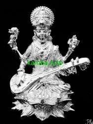 Silver Saraswati Idol