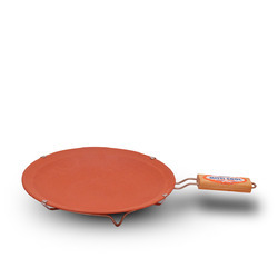 9 Inch Clay Simple Tawa With Handle