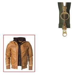 Brass Zipper for Leather Jacket