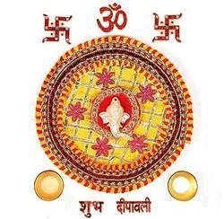 Diwali Pooja Thali N Rangoli Accessories 104