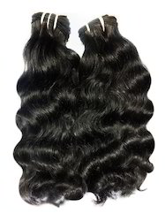 Wavy Machine Weft Human Hair