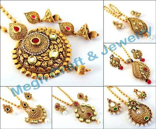 One gram gold plated jewellery indian jewellery pearl beaded one gram gold plated jewellery indian jewellery pearl beaded necklace set big pendant necklace set wholesaler from ahmedabad aloadofball Images