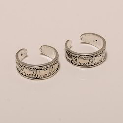 925 Solid Sterling Silver Laxmi Toe Ring 3.37