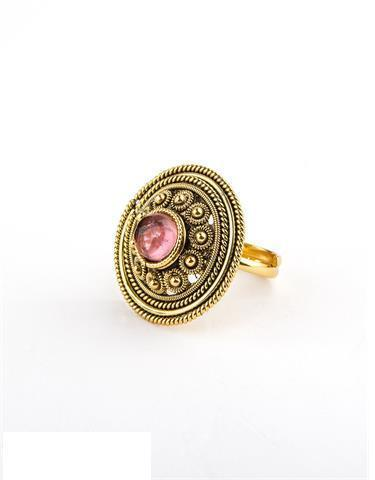 Round Shape High Gold Ring
