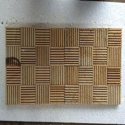 Teak Liner Mosaic Tile
