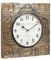 Designer Lakshmi/Ganesh Brass Fitted Wall Clock