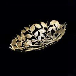 Ceramic Golden Fruit Basket