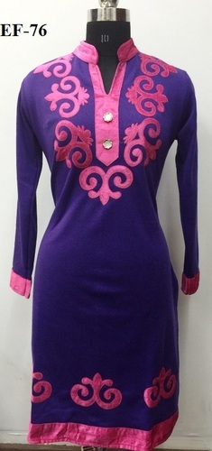 Party Wear Deep Colored Woolen Kurti