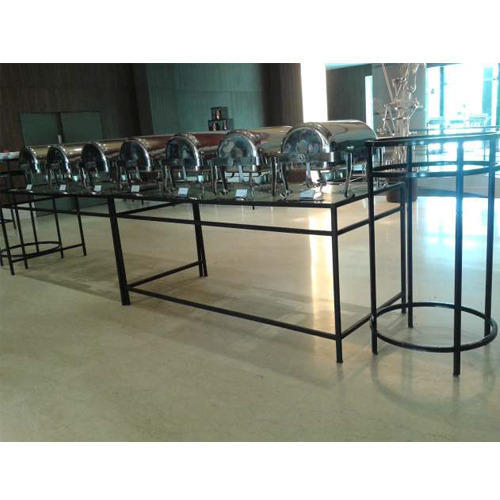 Square Glass Top Buffet Table At Rs 12000 Piece Buffet Table Id