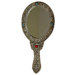 ornate hand mirror. Oval Shaped Ornate Hand Mirror, Handicrafts And Corporate Gift - Sky Shoppe  India, Bhilwara   ID: 12999464633 Ornate Hand Mirror A