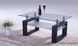 Smart Seating Square Wooden Frame Center Table, For Home, Material: Wood And Glass
