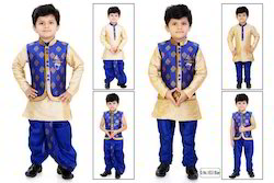 Silk Royal blue Boys Indian Wear