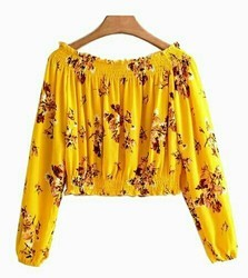 Kakojee Reyon Ladies Crop Top, Size: M-L-XL