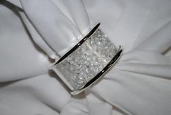 Stupendous Home Decore Crystal Napkin Ring, Size: Standard