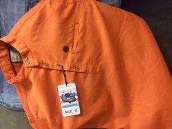Men Cotton Orange Coloured Shirts, Size: Medium