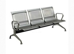 Stainless Steel Three Seater Chairs