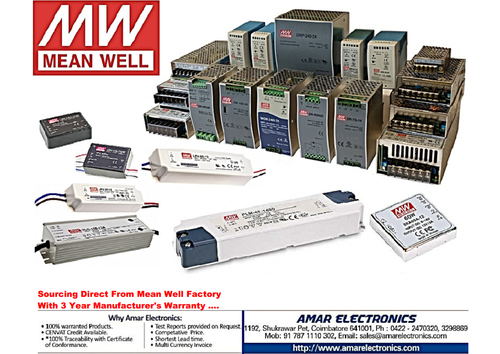 Mean Well Power Supplies - SMPS at Rs 1500 /each | Switch Mode Power ...