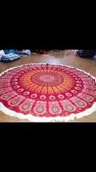Cotton Mandala Design Tapestry with Laces - Bed Spread