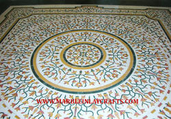 Marble Inlaid Flooring for Center Area