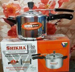 Shikha Inner Lid Kitchen Pressure Cooker, Packaging Type: Box, Capacity: 3L