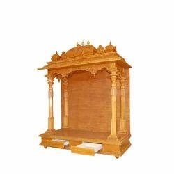 Wooden Temple Puja Mandapam