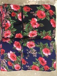 Flower Discharge Rayon
