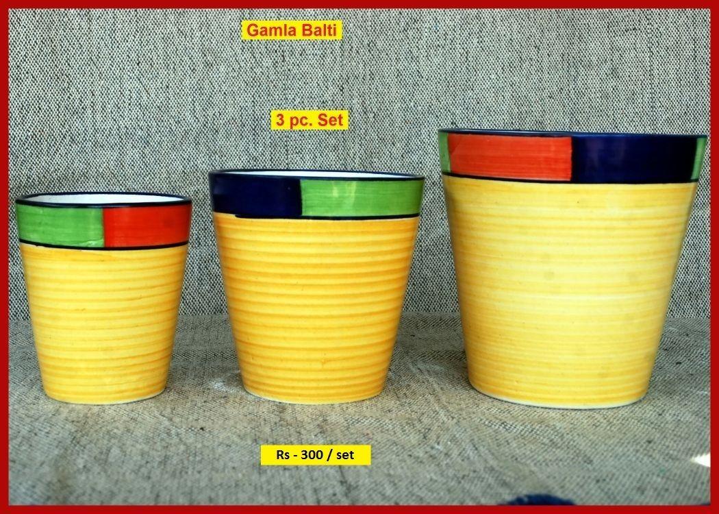 Gamla Balti Flower Pots At Rs 160 Set Bushra Arts