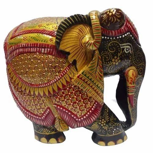 Shiva Arts Hand Painted Wooden Elephant